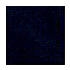 Woven1 Black Marble & Blue Grunge (r) Face Towel by trendistuff