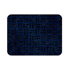 Woven1 Black Marble & Blue Grunge (r) Double Sided Flano Blanket (mini) by trendistuff