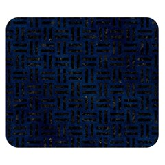 Woven1 Black Marble & Blue Grunge (r) Double Sided Flano Blanket (small) by trendistuff