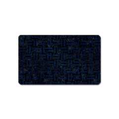 Woven1 Black Marble & Blue Grunge Magnet (name Card) by trendistuff
