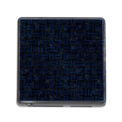 Woven1 Black Marble & Blue Grunge Memory Card Reader (square) by trendistuff