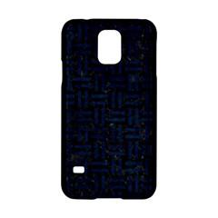 Woven1 Black Marble & Blue Grunge Samsung Galaxy S5 Hardshell Case  by trendistuff