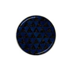 Triangle3 Black Marble & Blue Grunge Hat Clip Ball Marker by trendistuff