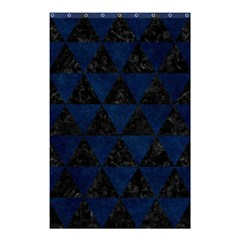 Triangle3 Black Marble & Blue Grunge Shower Curtain 48  X 72  (small) by trendistuff