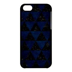 Triangle3 Black Marble & Blue Grunge Apple Iphone 5c Hardshell Case by trendistuff