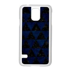 Triangle3 Black Marble & Blue Grunge Samsung Galaxy S5 Case (white) by trendistuff