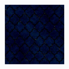 Tile1 Black Marble & Blue Grunge (r) Medium Glasses Cloth by trendistuff