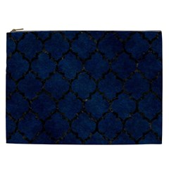 Tile1 Black Marble & Blue Grunge (r) Cosmetic Bag (xxl) by trendistuff
