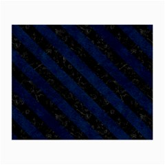 Stripes3 Black Marble & Blue Grunge (r) Small Glasses Cloth (2 Sides) by trendistuff