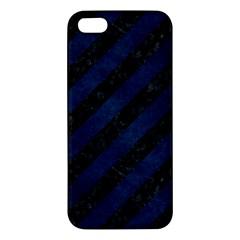 Stripes3 Black Marble & Blue Grunge Iphone 5s/ Se Premium Hardshell Case by trendistuff