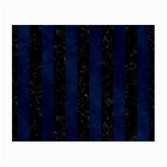 Stripes1 Black Marble & Blue Grunge Small Glasses Cloth (2 Sides) by trendistuff
