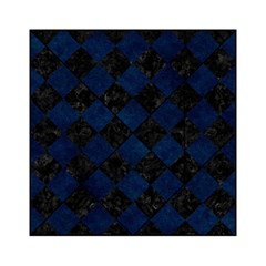 Square2 Black Marble & Blue Grunge Acrylic Tangram Puzzle (6  X 6 ) by trendistuff