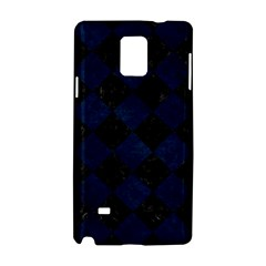 Square2 Black Marble & Blue Grunge Samsung Galaxy Note 4 Hardshell Case by trendistuff