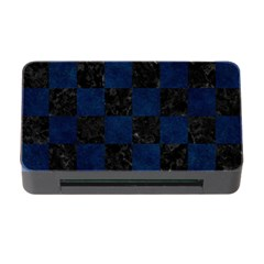 Square1 Black Marble & Blue Grunge Memory Card Reader With Cf by trendistuff