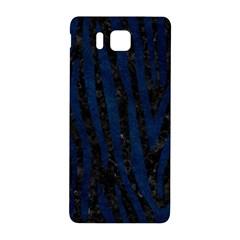 Skin4 Black Marble & Blue Grunge (r) Samsung Galaxy Alpha Hardshell Back Case by trendistuff