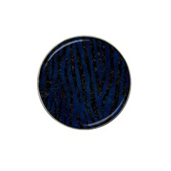Skin4 Black Marble & Blue Grunge Hat Clip Ball Marker (4 Pack) by trendistuff