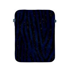 Skin4 Black Marble & Blue Grunge Apple Ipad 2/3/4 Protective Soft Case by trendistuff