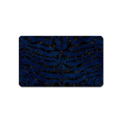 Skin2 Black Marble & Blue Grunge (r) Magnet (name Card) by trendistuff