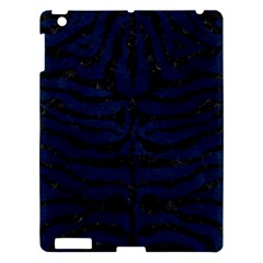 Skin2 Black Marble & Blue Grunge (r) Apple Ipad 3/4 Hardshell Case by trendistuff