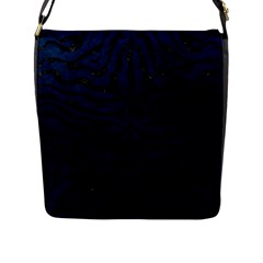 Skin2 Black Marble & Blue Grunge (r) Flap Closure Messenger Bag (l) by trendistuff