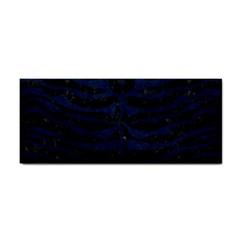 Skin2 Black Marble & Blue Grunge Hand Towel by trendistuff
