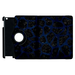Skin1 Black Marble & Blue Grunge (r) Apple Ipad 2 Flip 360 Case by trendistuff