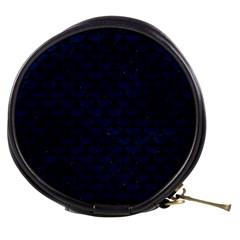 Scales3 Black Marble & Blue Grunge (r) Mini Makeup Bag by trendistuff