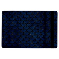 Scales3 Black Marble & Blue Grunge (r) Apple Ipad Air Flip Case by trendistuff
