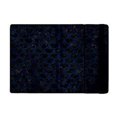 Scales3 Black Marble & Blue Grunge Apple Ipad Mini Flip Case by trendistuff