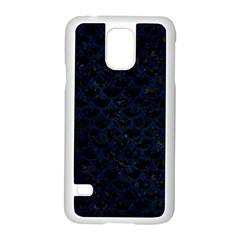 Scales3 Black Marble & Blue Grunge Samsung Galaxy S5 Case (white) by trendistuff
