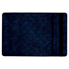 Scales2 Black Marble & Blue Grunge (r) Apple Ipad Air Flip Case by trendistuff