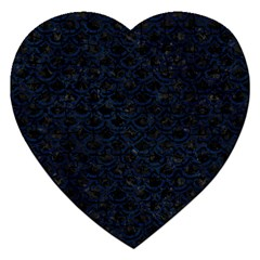 Scales2 Black Marble & Blue Grunge Jigsaw Puzzle (heart) by trendistuff