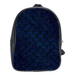 Scales1 Black Marble & Blue Grunge (r) School Bag (xl) by trendistuff