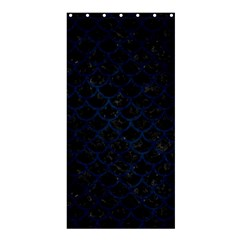 Scales1 Black Marble & Blue Grunge Shower Curtain 36  X 72  (stall) by trendistuff