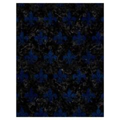 Royal1 Black Marble & Blue Grunge (r) Drawstring Bag (large) by trendistuff
