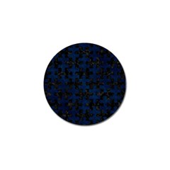 Puzzle1 Black Marble & Blue Grunge Golf Ball Marker (4 Pack) by trendistuff