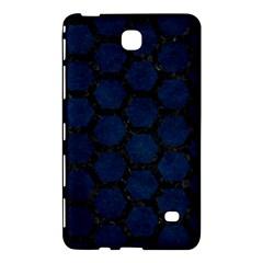 Hexagon2 Black Marble & Blue Grunge (r) Samsung Galaxy Tab 4 (7 ) Hardshell Case  by trendistuff