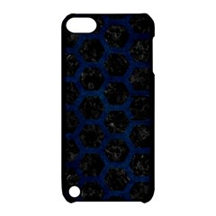 Hexagon2 Black Marble & Blue Grunge Apple Ipod Touch 5 Hardshell Case With Stand by trendistuff