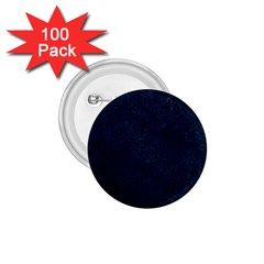 Hexagon1 Black Marble & Blue Grunge (r) 1 75  Button (100 Pack)  by trendistuff