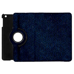 Hexagon1 Black Marble & Blue Grunge (r) Apple Ipad Mini Flip 360 Case by trendistuff