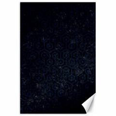 Hexagon1 Black Marble & Blue Grunge Canvas 20  X 30  by trendistuff