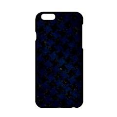 Houndstooth2 Black Marble & Blue Grunge Apple Iphone 6/6s Hardshell Case by trendistuff