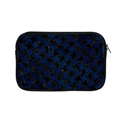 Houndstooth2 Black Marble & Blue Grunge Apple Macbook Pro 13  Zipper Case by trendistuff