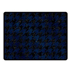 Houndstooth1 Black Marble & Blue Grunge Double Sided Fleece Blanket (small) by trendistuff