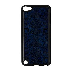 Damask2 Black Marble & Blue Grunge (r) Apple Ipod Touch 5 Case (black) by trendistuff