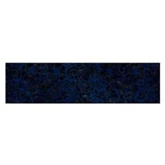 Damask2 Black Marble & Blue Grunge (r) Satin Scarf (oblong) by trendistuff