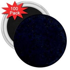 Damask2 Black Marble & Blue Grunge 3  Magnet (100 Pack) by trendistuff