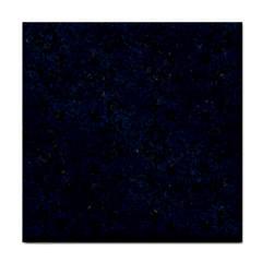 Damask2 Black Marble & Blue Grunge Face Towel by trendistuff