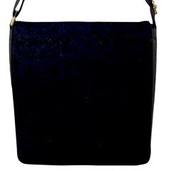 Damask2 Black Marble & Blue Grunge Flap Closure Messenger Bag (s) by trendistuff