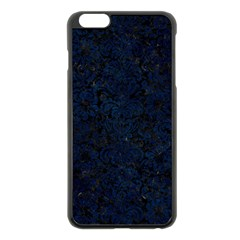 Damask2 Black Marble & Blue Grunge Apple Iphone 6 Plus/6s Plus Black Enamel Case by trendistuff